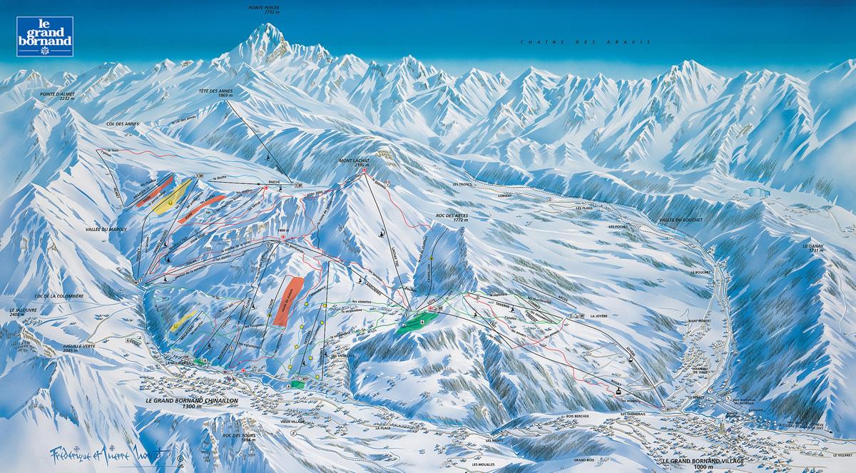 Plan des pistes de ski le grand bornand - Office du tourisme grand bornand chinaillon ...